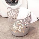 歐式家用臟衣籃臟衣服收納筐塑料收納籃玩具零食收納桶大號洗衣籃【櫻花本鋪】