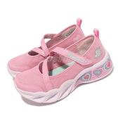 Skechers 燈鞋 S Lights-Sweetheart Lights-Sassy Beauty 4-7歲 中童 瑪莉珍 粉 白 小朋友 運動鞋【ACS】 302303-LPNK