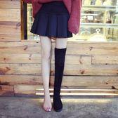 過膝靴長靴子秋冬季新款女鞋小辣椒瘦瘦加絨長筒靴平底高筒靴   LannaS