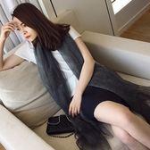 雪紡絲巾-柔軟質感漸變花色女披肩5色73hw27[時尚巴黎]