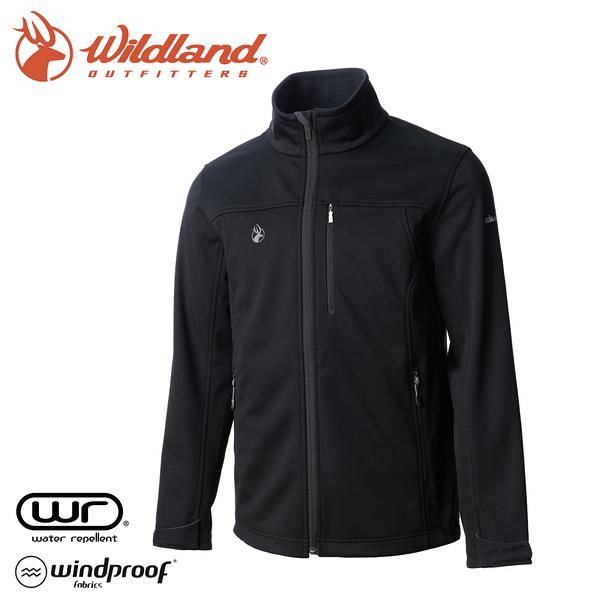 【Wildland 荒野 男 三層貼防風保暖功能外套《黑》】0A72908/夾克/運動外套/抗風透氣