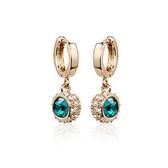 耳環 玫瑰金 925純銀鑲鑽-精緻優美生日情人節禮物女飾品2色73gs94【時尚巴黎】