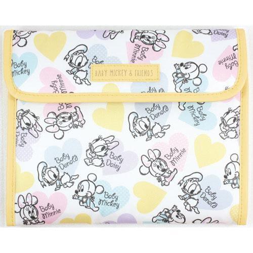 日本迪士尼 母子手帳本 手冊卡片收納本 收納袋 手帳 手冊  迪士尼 米奇米妮 日本代購 (呼呼熊)