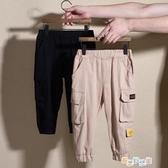 【免運快出】 兒童裝男童褲子下裝帥氣裝寶寶韓版工裝窄管褲子 奇思妙想屋