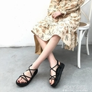 厚底涼鞋女網紅爆款2021新款百搭韓版仙女沙灘平底女鞋可下水 polygirl
