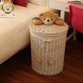 髒衣籃 藤編臟衣籃玩具收納箱家用臟衣服簍放衣服的收納YYS 芊惠衣屋