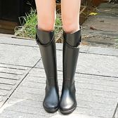 雨鞋   韓國雨靴女高筒成人夏季防滑鎖扣長筒水鞋女士雨鞋水靴防水鞋
