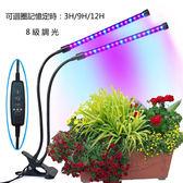 USB雙燈18W調光定時植物生長燈
