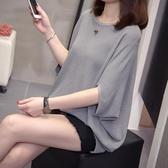 大尺碼女裝新款夏裝短袖針織衫T恤胖妹顯瘦流行半袖寬鬆上衣潮