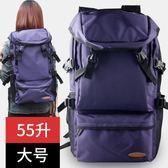 雙肩包女旅行背包男登山包大容量行李包戶外旅游超輕便電腦包書包 QQ2443『樂愛居家館』