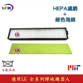 【LFH濾網+綠色海綿】適用LG樂金 掃地機器人HEPA濾網 適用全系列