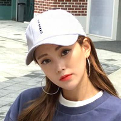 鴨舌帽 韓國 直條字母刺繡嘻哈帽 男女 (3色)【Ann梨花安】