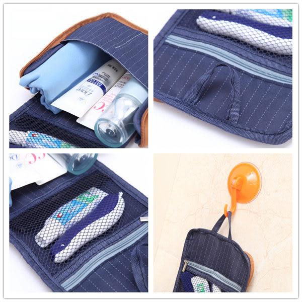 (99免運) 掛式PU皮革多層收納化妝包