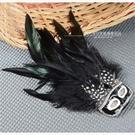 【飾品.鑽飾.舞台.新娘秘書】羽毛黑色面具胸針 [40834]
