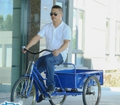 0.9~1米車廂成人三輪腳踏車帶貨運拉貨小吃大人力三輪車 萬客城
