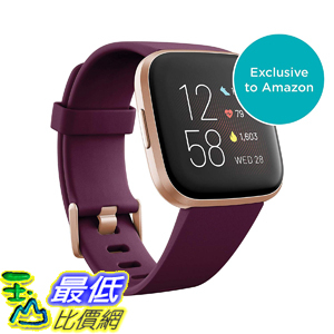[8美國直購] 智能手錶 Fitbit Versa 2 Health & Fitness Smartwatch with Heart Rate, Music, Alexa Built-in, Sleep