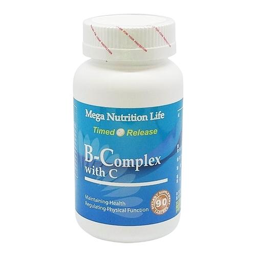 營養生活維他命B+C錠(長效高單位B群添加C) 90錠/瓶