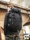 戶外登山背包黑色後背包男士旅行背包休閒超大容量行李包【左岸男裝】