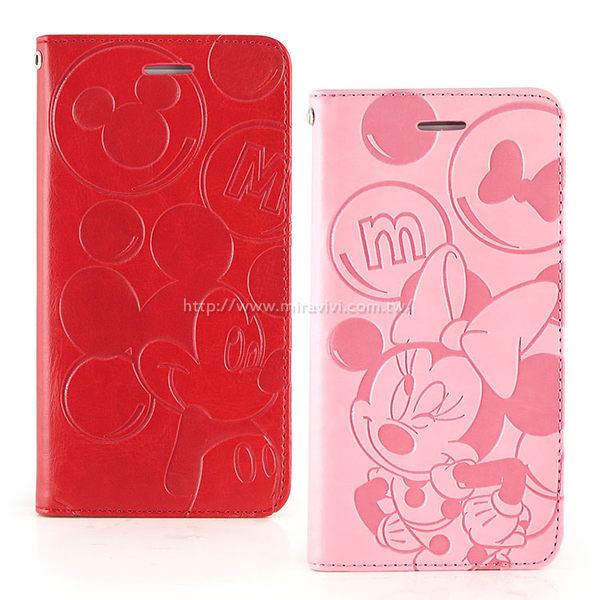 【Disney 】HTC One A9 角色泡泡壓紋側掀可立式皮套