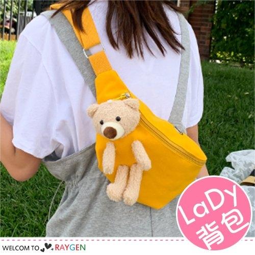 韓版百搭小熊玩偶單肩包 斜背包