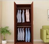 實木櫃子衣櫃推拉門簡約現代 經濟型 組裝實木板式臥室成人組裝igo 【PINKQ】