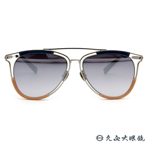 HAZE 太陽眼鏡 貓眼 雙槓 水銀 墨鏡 ARCH-2SL 銀-透藍 久必大眼鏡