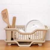 買一送一 創意廚房放碗架瀝水架置物架 塑料收納架餐具架子碗筷收納盒碗柜