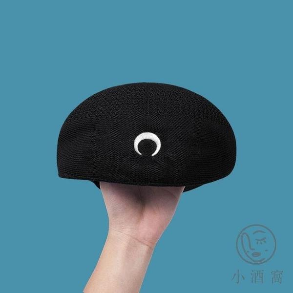 復古日系蓓蕾畫家帽子月亮貝雷帽女薄款英倫韓版潮【小酒窩服飾】
