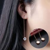 【5折超值價】最新款時尚精美羅馬數字圓狀造型女款鈦鋼耳飾