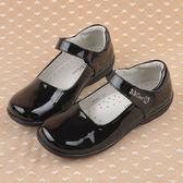 【Kidsfam】簡約亮皮革學院娃娃皮鞋 黑色兒童款