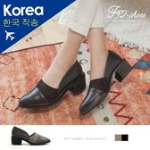 靴.側V拼接高跟踝靴-FM時尚美鞋-韓國精選.young