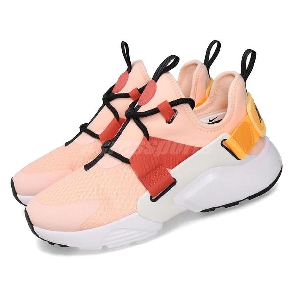 Nike 休閒鞋 Wmns Air Huarache City Low 粉紅 白 女鞋 運動鞋 【PUMP306】 AH6804-601