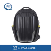 【Datashell】個性直紋硬殼後背包(黑色輕量型)