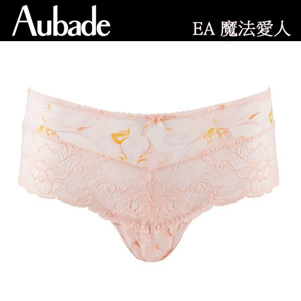 Aubade-魅夜情挑S-L印花蕾絲平口褲(黑)NA