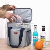 便當袋 大號加厚保溫飯盒袋手提包防水大容量保溫包便當包帶飯戶外野餐包 俏腳丫