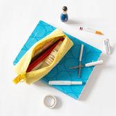 """筆袋  """"三明治""""網布夾層收納筆袋 [多色]韓版簡約時尚 蒂小屋服飾"""