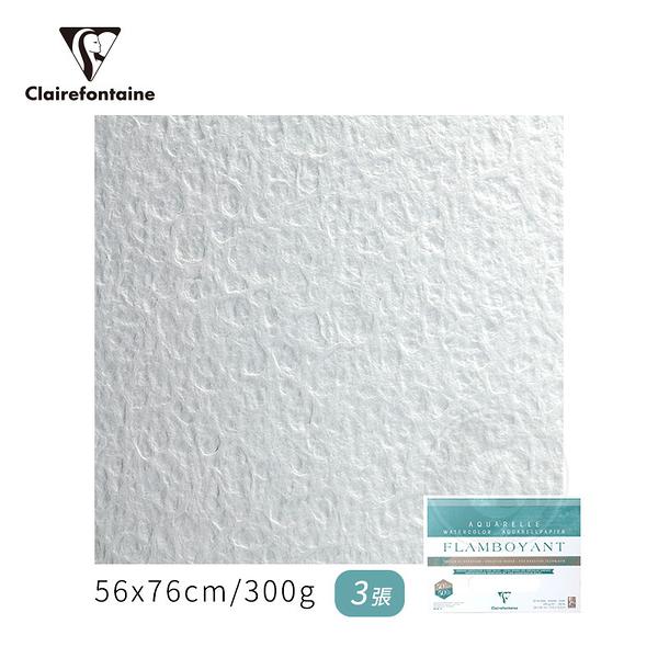 『ART小舖』Clairefontaine 法國CF FLAMBOYANT創意粗紋水彩紙 300g 56x76cm 3張(包) #975061