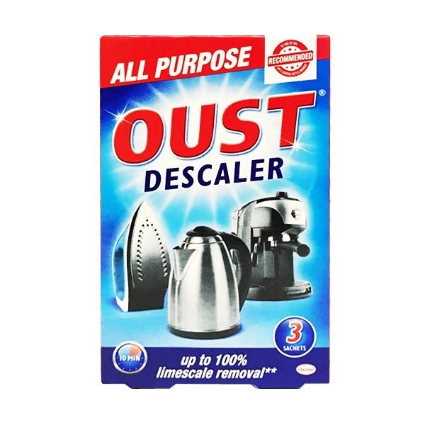 英國進口 OUST 居家多用途清潔除垢液 All Purpose Descaler 每盒3包入 (茶垢 咖啡機除垢)