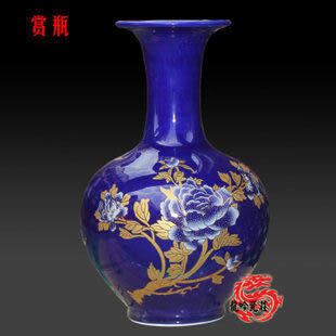 藍色古典賞瓶