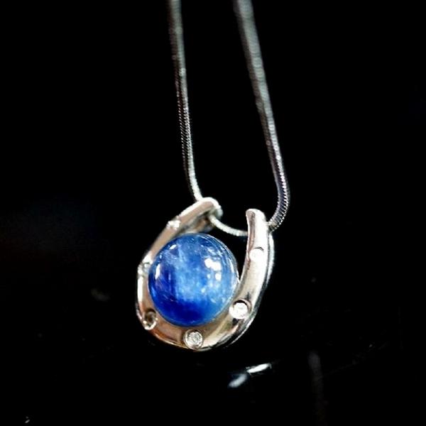 【喨喨飾品】藍晶石馬蹄型墜 純銀配飾 M317