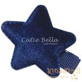 Cutie Bella絲絨星星全包布手工髮夾-Star Velvet-Indigo