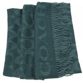 茱麗葉精品【全新現貨】COACH 39703 經典C LOGO羊毛絲質披肩長圍巾.綠