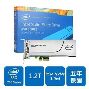 Intel 750-SSDPEDMW012T4X1(PCIe介面)