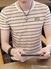 polo衫 夏季短袖t恤男士半袖潮流韓版圓領衣服男夏裝鏤空體恤土 瑪麗蘇