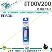 EPSON T00V T00V1/T00V2/T00V3/T00V4 原廠盒裝填充墨水 L3110 / L3510 (藍色)