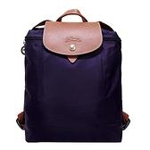 【南紡購物中心】LONGCHAMP Le Pliage系列尼龍摺疊後背包(藍莓)