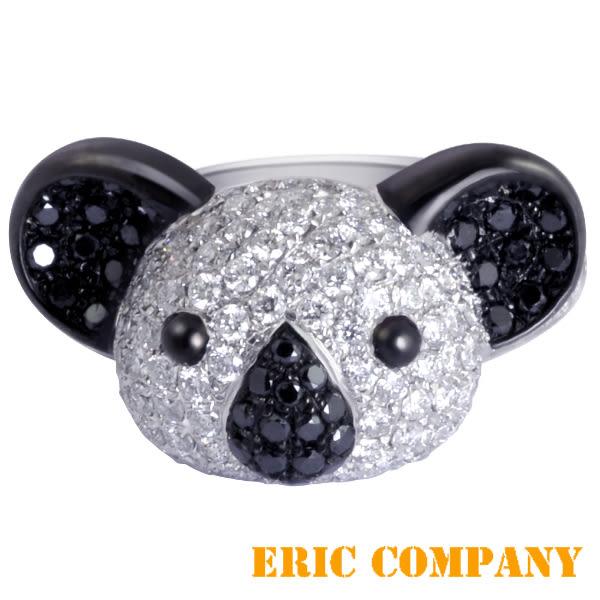 Eileen Me    可愛無尾熊造型鑽戒 18K白金