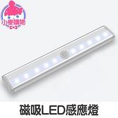 ✿現貨 快速出貨✿【小麥購物】磁吸LED感應燈 USB充電款 LED燈 櫥櫃燈 小夜燈 展示燈【G046】