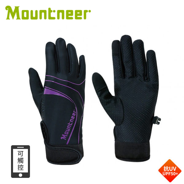 【 Mountneer 山林 抗UV印花觸控手套《紫蘿蘭》】11G03/抗UV/UPF50+/觸控手套/觸控手機/手套/防曬手套