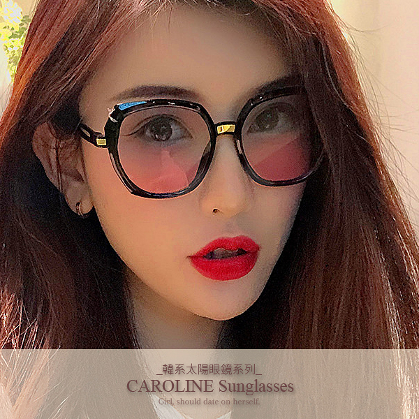 《Caroline》年度最新網紅款潮流百搭抗UV時尚太陽眼鏡 72106